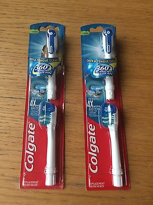 New 4x Colgate 360 Electric Toothbrush Heads