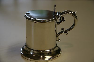 A 19th Century Antique Victorian Solid Silver Mustard Pot by Henry Wilkinson