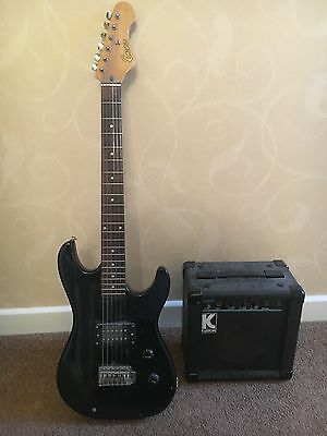 Childrens Electric Guitar and Amplifier - Black - Encore