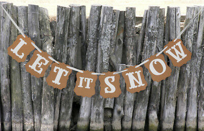 LET IT SNOW Christmas Xmas Bunting Banner Decoration