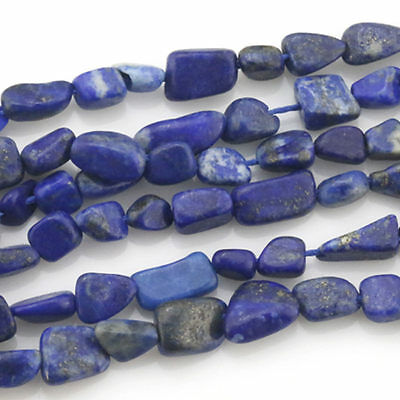 Wholesale Natural Stone Lapis Lazuli Irregular Loose Freefrom Beads Strand 15""