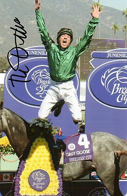 "horse racing frankie dettori signed 6"" x 4"" photograph"