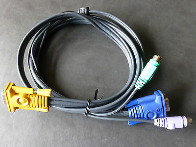 Aten (2L-1602P) 2 mtr PS/2 Cable to KVM Cable