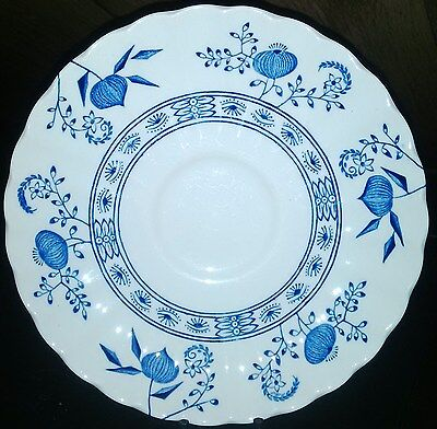 J & G Meakin Blue Nordic Saucers 6 Pieces