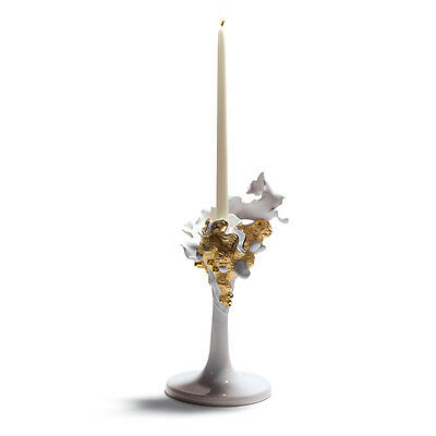 LLADRO Porcellain - Naturo Single Candle Holder (Golden) ref. 01007963