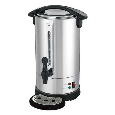 Stainless Steel 8 Litre Hot Water Boiler Urn Tea/Coffee Commercial Catering Cafe