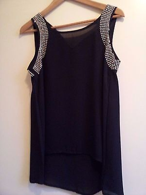 Top noir strass Taille S/M