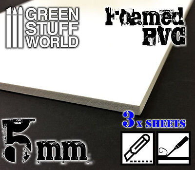 Foamed PVC 5mm - Modeling Dioramas Structures - Miniatures Tiles Forex Foamboard