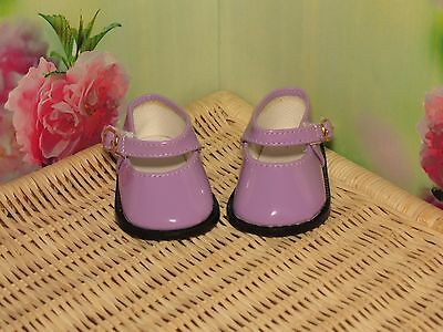 Shoes To Fit The Galoob Baby Face American Girl Doll Purple Shiny Maryjane