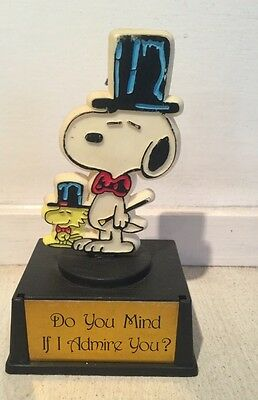 vintage snoopy trophy 1960s 1970s Top Hat And Cane Admire You Love Valentine's