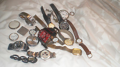 Job Lot Of Mens & Ladies Wrist Watches 17 In All Spares Or Repairs