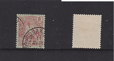 FRGN2 French Guinea 1904 20c red on green good used.
