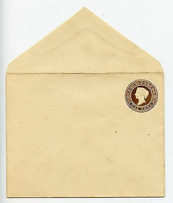 India QV postal stationery envelope unused (G777)