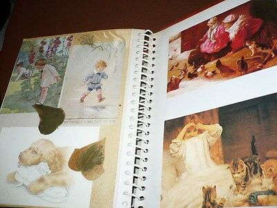 VINTAGE early 1900 s GREETINGS POST CARD ALBUM WITH APPROX 105 CARDS