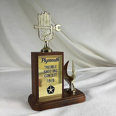 Plymouth Mechanics Trophy 1970S Trouble Shooting Contest
