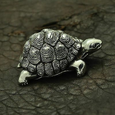 ~ 60 Grams ~ Fully Hallmarked 925 Sterling Silver Tortoise / Turtle Figure