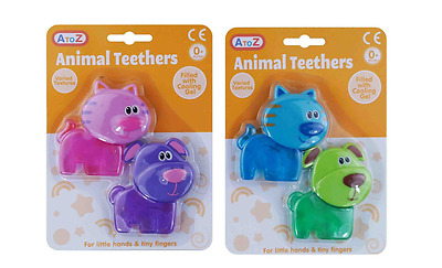 Baby Cooling Gel Filled Baby Teethers - Twin Pack