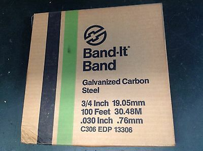 Band-it strapping.  C-306. High carbon steel band.   100ft roll