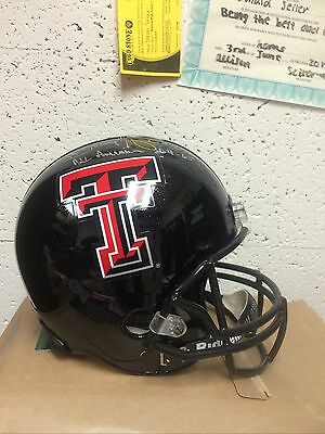 Texas Tech Donny Anderson signed Riddell Full Size Helmet with COA