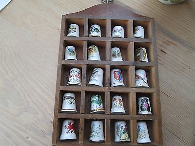20 pretty china Thimbles and display birds flowers September Chester Carol deer