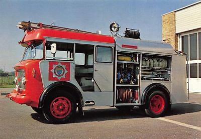 Postcard Bedford J5 Water Tender, Fire Engine (1958) BABY BEDFORD by Judges