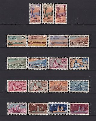 FRSC1 French Somali Coast 1947 Complete set ex Airs, SG393-411.