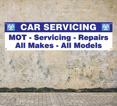 CAR SERVICING W1 workshop, garage, office or showroom pvc banner