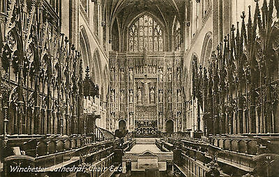 1900s Postcard Choir East WINCHESTER Cathedral