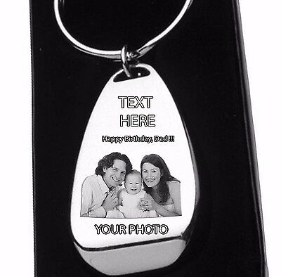 Personalised Keyring Engraved With Photo Text Or Logo Birthday.bottle Opener.bag