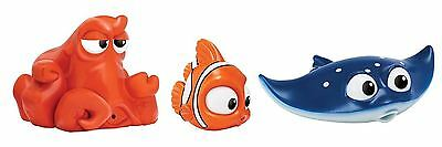New Disney Finding Dory 3 Pack Water Squirters Nemo, Hank & Mr. Ray Bath Toy
