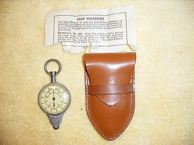 Vintage German Compass Map Reader Nautical Miles w. Case & Instructions