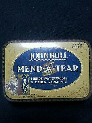 Vintage John Bull Tin. Mend A Tear. Complete With Contents.