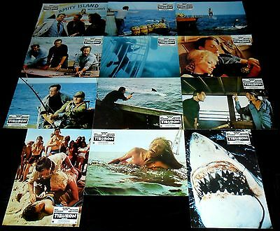 1975 Jaws ORIGINAL SPAIN LOBBY CARD SET Steven Spielberg ULTRARARE!!!!!!!!!!!!!