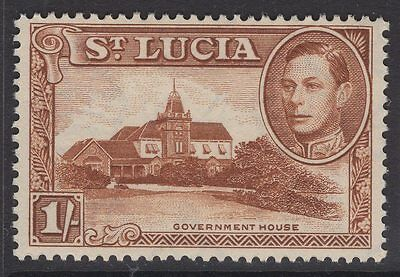 ST.LUCIA SG135 1938 1/= BROWN p13½ MNH