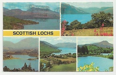 Postcard, Colourmaster, PLX35488, Scottish Lochs Multiview, 1977