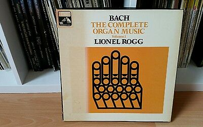 J. S. Bach Complete Organ Music Volume 1 Lionel Rogg 5 Disc Box Set Emi Sls 5087