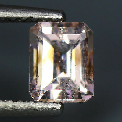 1.92 Cts_Simmering Ultra Nice Color_100 % Natural Peach Pink Morganite_Brazil