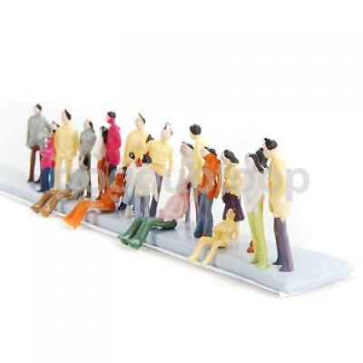 100 Model People Passenger park Bus Station Train Railway Diorama Layout N