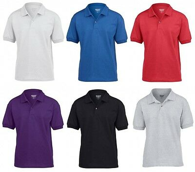 Kids Polo Shirts Plain Polo Shirt T Shirt Boys Girls Polo School Uniform 5-13yrs