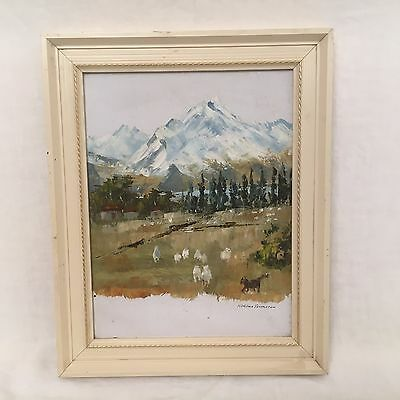 Vintage Oil Painting On Board by Robina Templeton