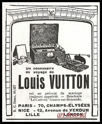 1924 - Louis Vuitton Art Deco vintage print  ad - 2jb