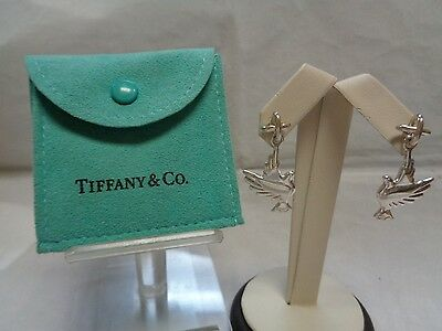 Tiffany & Co. Paloma Picasso Sterling Silver Dove Earrings