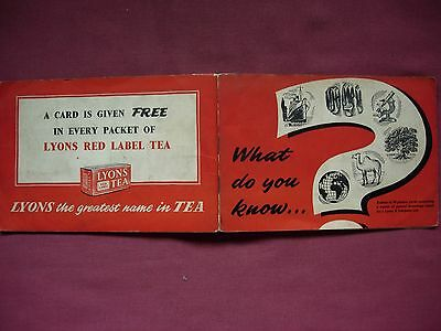 What Do You Know? Lyons Tea cards 41/48 incomplete in album 1957 VGC