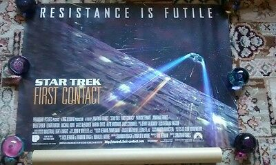 33x23.5 inch Star Trek First Contact Poster original  in tube vgc