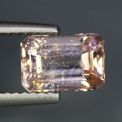 1.59 Cts_Simmering Ultra Nice Color_100 % Natural Peach Pink Morganite_Brazil
