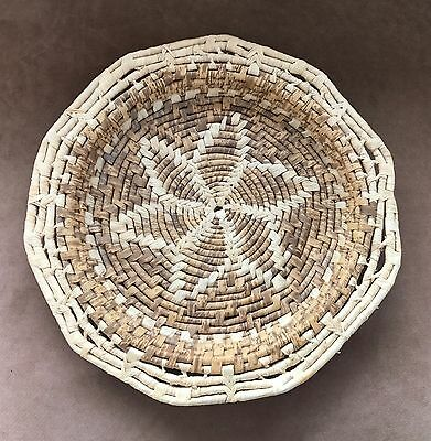 Beautiful Coiled Basket Tray With Star Design Center