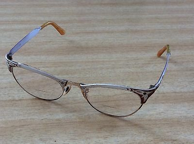 Vintage Cat Eye Glasses Aluminum Frame with fiery copper