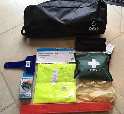 Essentials Car Safety Kit Emergency Travel Storage Bag Accident Medical FirstAid