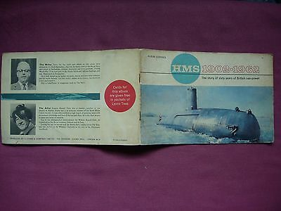 HMS 1902-1962 Lyons Tea cards 27/32 incomplete in album 1962 GD