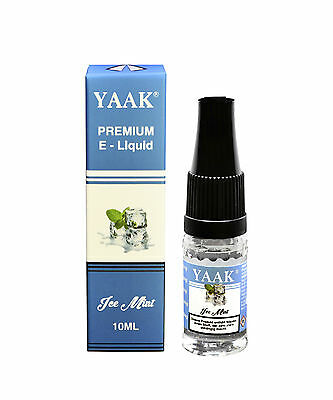 E-Liquid 1 x 10 ml - Ice Mint YAAK® Premium Liquid in der Nikotinstärke 3 mg/ml